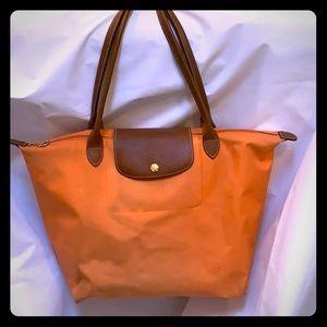 Longchamp large tote (orange)